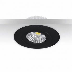 6W LED-alasvalo musta IP44 himmennettävä säädettävä