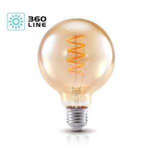 G95 E27 LED-pallolamppu filament vintage